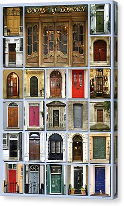 Doors Of London Canvas Print by Heidi Hermes