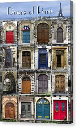 Doors Of Paris Canvas Print by Heidi Hermes