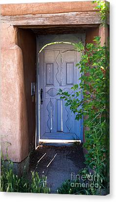 Canvas Print featuring the photograph Doors Of Santa Fe by Roselynne Broussard