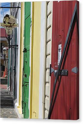 Canvas Print featuring the photograph Doors Of St. Thomas Usvi  by Jean Marie Maggi