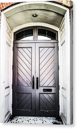 Doorway At Morris Avenue Canvas Print by Shelby  Young