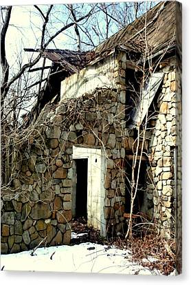 Doorway Back Through Time Canvas Print by Janine Riley
