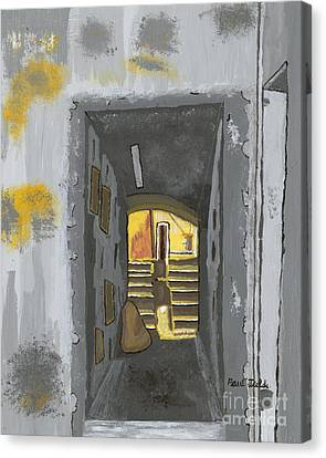 Doorway In Cinque Terra Canvas Print