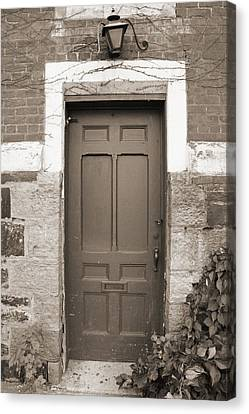 Canvas Print featuring the photograph Doorway In Sepia by Brooke T Ryan
