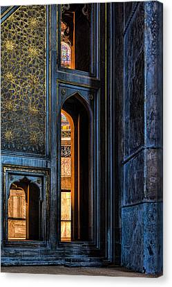 Doorway In The Blue Mosque Canvas Print