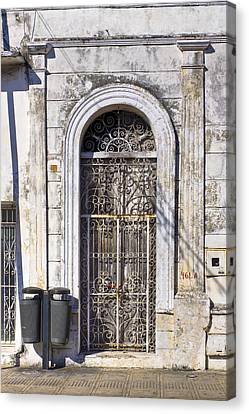 Doorway To Elegant Decay In Mexico Canvas Print by Mark E Tisdale