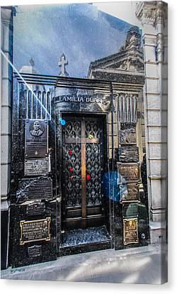 Doorway To Evita Peron's Mausoleum Canvas Print by Errol Wilson