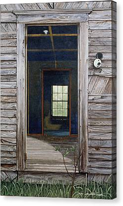 Doorway To The Past Canvas Print by Peter Muzyka