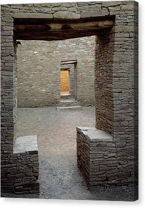 Doorways In Pueblo Bonito Ruin At Chaco Canvas Print by Panoramic Images