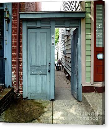 Canvas Print featuring the photograph Doorways Of Bordentown Series - Door 2 by Sally Simon