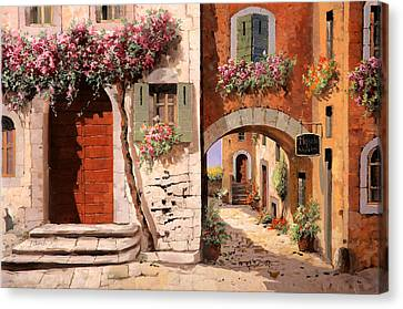 Doppia Casa Canvas Print by Guido Borelli