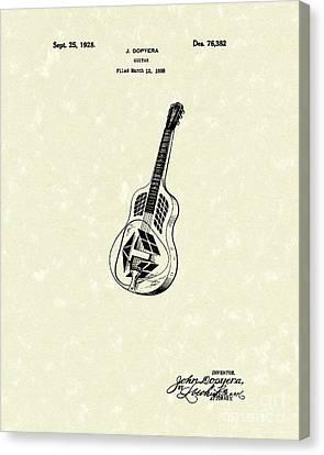 Dopyera Guitar 1928 Patent Art Canvas Print