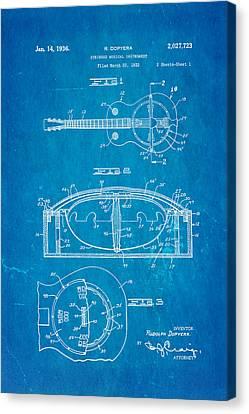 Dopyera Resonator Guitar Patent Art 1936 Blueprint Canvas Print