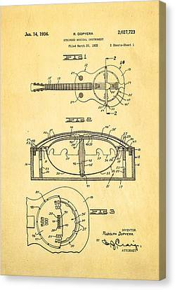 Dopyera Resonator Guitar Patent Art 1936 Canvas Print
