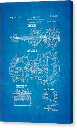 Dopyera Resophonic Violin Patent Art 1939 Blueprint Canvas Print