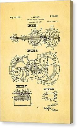 Dopyera Resophonic Violin Patent Art 1939 Canvas Print
