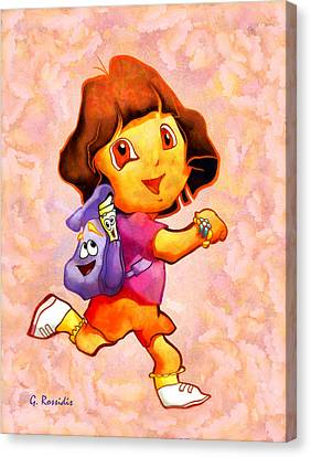 Dora The Explorer Canvas Print by George Rossidis