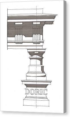 Doric Order Canvas Print by Calvin Durham