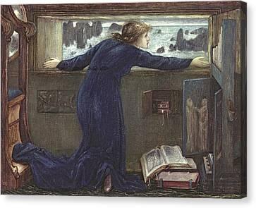 Sea Watch Canvas Print - Dorigen Of Bretaigne Longing For The Safe Return Of Her Husband by Sir Edward Coley Burne-Jones