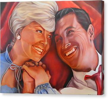 Doris Day And Rock Hudson Canvas Print by Mark Robinson