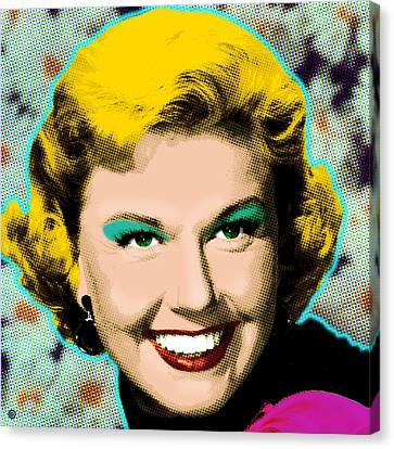 Doris Day Canvas Print by Gary Grayson