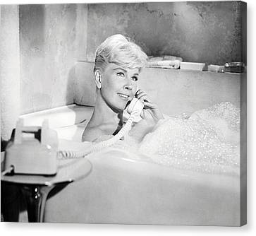 Doris Day In Pillow Talk  Canvas Print by Silver Screen