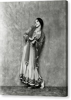 Ballet Dancers Canvas Print - Doris Niles As An Indian Woman by Nickolas Muray