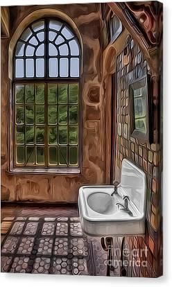 Dormer And Bathroom Canvas Print
