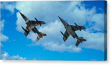 Dornier Alpha Jets Canvas Print by Bianca Nadeau