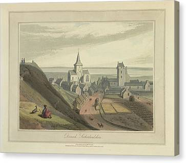 Dornoch Town In Sutherlandshire Canvas Print by British Library
