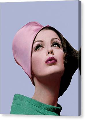 Dorothea Mcgowan In A Cloche Canvas Print by Bert Stern