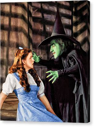 Dorothy And The Wicked Witch Canvas Print