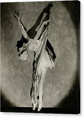 Dorothy Dilley In The Butterfly Dance Canvas Print by Nickolas Muray