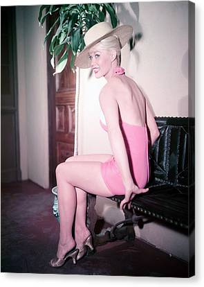Dorothy Provine Canvas Print by Silver Screen