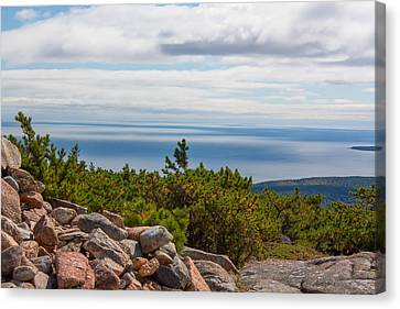 Dorr Mountain Ocean View - Acadia Canvas Print by Kirkodd Photography Of New England