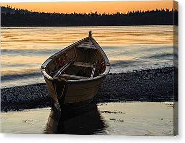 Canvas Print featuring the photograph Dory At Dawn by Marty Saccone