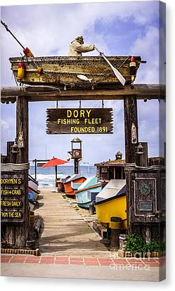 Dory Fishing Fleet Market Newport Beach California Canvas Print by Paul Velgos