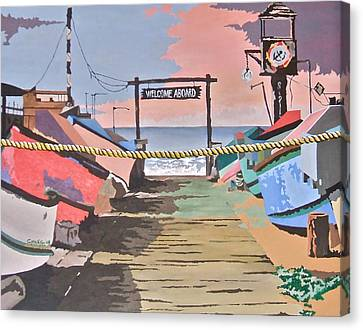 Dory Fishing Fleet -newport Beach Canvas Print