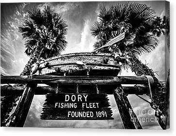 Dory Fishing Fleet Sign Picture In Newport Beach Canvas Print
