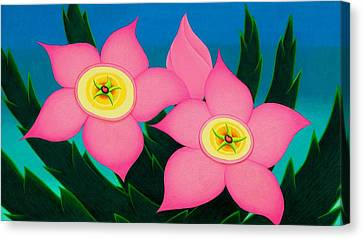 Dos Flores Canvas Print by Richard Dennis