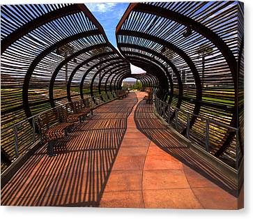 Canvas Print featuring the photograph Dos Lagos Tunnel Walk by Richard Stephen