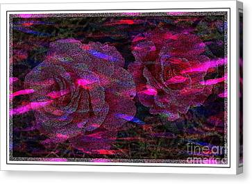 Dots Of Light And Roses Canvas Print