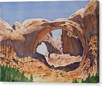 Canyon Canvas Print - Double Arch by Christopher Reid