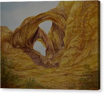 Double Arches Canvas Print by Kathleen Keller