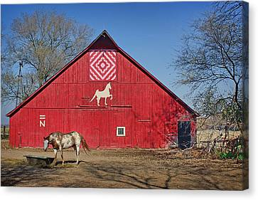 Block Quilts Canvas Print - Double Bar N - 1 by Nikolyn McDonald