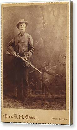Canvas Print featuring the photograph Double Barrel Shotgun Hunter by Paul Ashby Antique Image