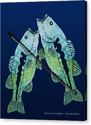 Double Bass Canvas Print