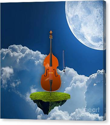 Orchestra Canvas Print - Double Bass by Marvin Blaine