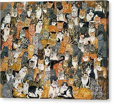 Double Cat Spread Canvas Print by Ditz