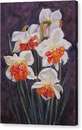 Double Daffodil Replete Canvas Print